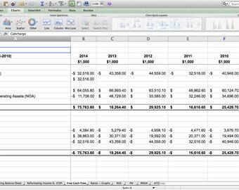 Cash Flow - Excel Spreadsheet