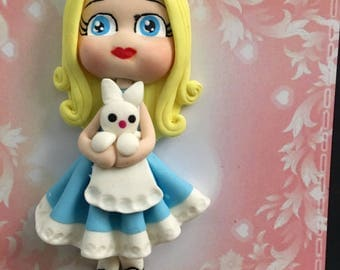 Alice and Wonderland Clay Figure