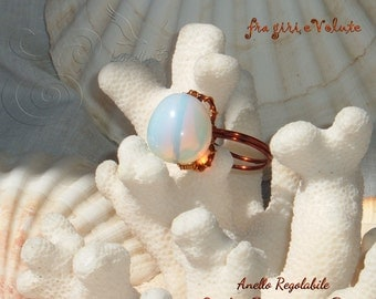 Opalite copper ring.