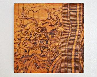 Pyrography - Wood Burning - 12x12 inch piece