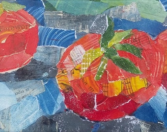 Tomatoes - Torn Paper Collage