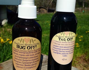 Natural Insect Aromatic Repellents *Tick Off!* & *Bug Off!* Package Deal