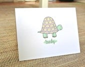 Personalized Turtle Stationery - Set of 25