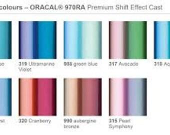 Vinyl 970 Color Shift sample sheet 12x12