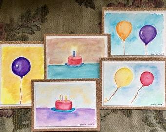 Birthday Card Set // Greeting Card - 5 Cards