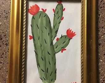Handpainted Framed Wall Decor - Cacti