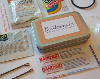 Bridesmaid Emergency Kit, Bridesmaid Gift, Bridesmaid Survival Kit, Wedding Emergency Kit, Bridesmaid Proposal, Bridesmaid Favor