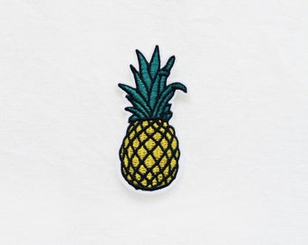 1x Pineapple patch summer fruit tropical Iron On Embroidered Applique summer vacation sweet delicious fun diy custom project