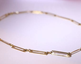 Vintage Rectangle Link Gold Chain