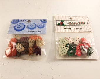 Buttons, Fall Buttons, Christmas Buttons, Sewing Supplies, Crafting Supplies