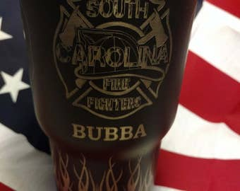 Black Fire Fighter Cup