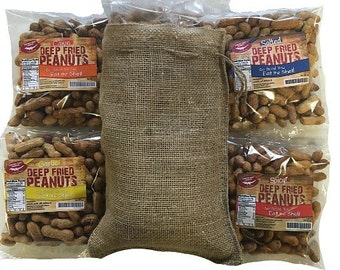 Deep Fried Peanuts Gift Bag With Edible Shells 4 Pack