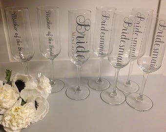 Bridal party glass