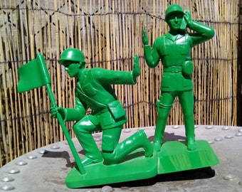 RESERVED**********Toy soldier book ends, oversized green soldier book ends, fun book ends