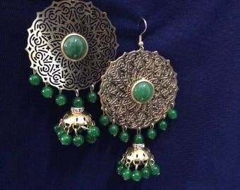Green Ear rings