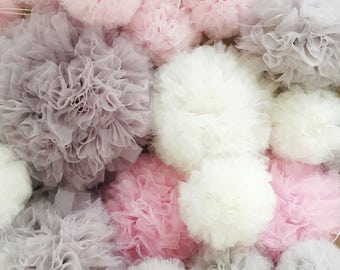 Tulle pom pom | Wedding  decorations | party decor