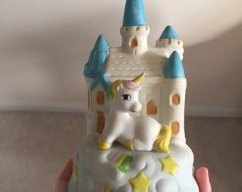 Vintage unicorn ceramic display