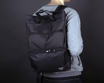 Black Backpack,Men's Backpack,Laptop Backpack,Canvas Backpack,Canvas Rucksack,Waterproof Backpack,Backpacks for Men,College Backpack