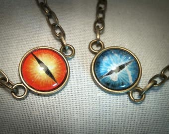 Dragon eye hand painted bracelet,