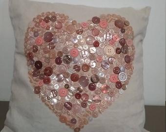 """Cushion heart buttons """"fishing"""""""