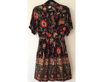 90s Dress/ Floral Dress/ Babydoll Dress/ Boho Dress/ Festival Dress