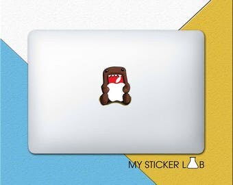 MacBook Decal Apple MacBook Sticker MacBook Pro Decal Domo Kun MacBook Air Decal MacBook Retina Decal Apple Logo Vinyl Sticker Domokun cm217