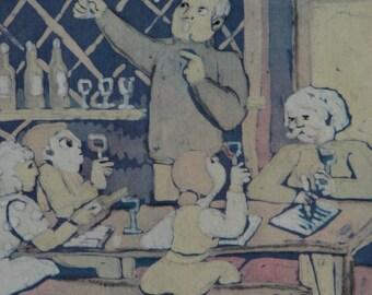 Signed Fine Art Batik on Silk by Sandra Grassi Nelipovich 1982 Award Winning
