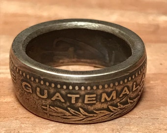 Guatemalan Quetzale coin ring
