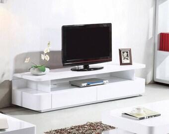 Courbe 1.8m White Gloss TV / Entertainment Unit