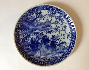 Blue and White Chinese Plate