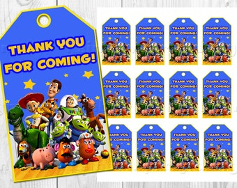 Toy story Thank you card Thank you tags Toy story favor tags Instant dowload Party favors printable Birthday decorations outfit party supply
