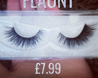 "Mink lashes in ""FLAUNT"""