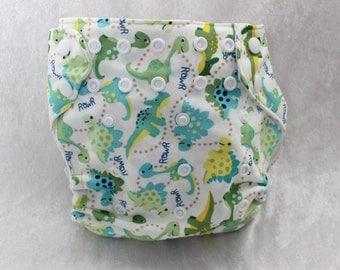 Dinosaur one size cloth diaper- Pocket Diaper- OS cloth diaper