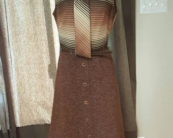 Super cute Vintage dress from the 70s/ Vintage secretary dress/ Made Men Style office dress