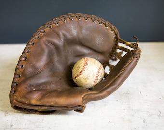 Vintage Baseball Catchers Mitt