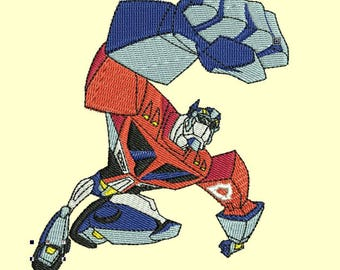Optimus Prime embroidery pattern