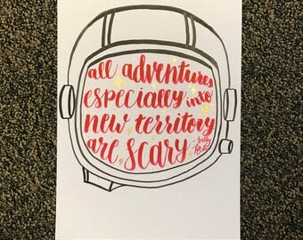 Sally Ride Hand Lettering Quote