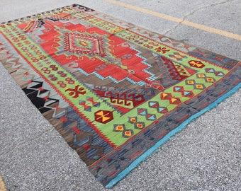 Turkish Tribal Oushak - 5′4″ × 10′3″