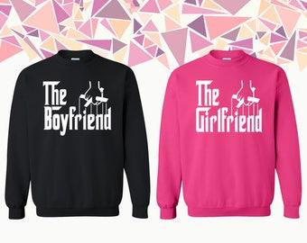The Boyfriend The Girlfriend Sweatshirt Girlfriend Boyfriend Couple Crewneck Couple Crewneck Sweatshirt Couple Sweater Gift For Couple