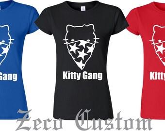 Kitty Bandanna  Guns Gangster Gang   Tough Juniors  T-Shirt
