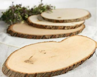 Large Rustic Natural Wood Tree Trunk Slice