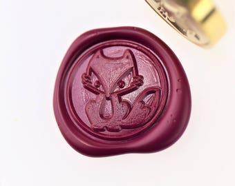 Cute Fox Wax Seal Stamp/ wax sealing kit /Custom wedding seals/wedding invitation seal/SS094
