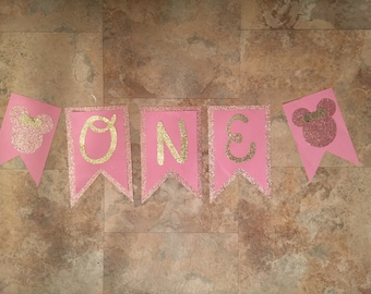 Minnie Mouse First Birthday Banners!