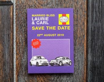 Mechanic wedding, Haynes manual, manual invitation perfect for a fun wedding or nostalgic, book wedding or literary wedding, personalised