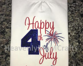 4th of July shirts, Boys July 4th, Girls July 4th, patriotic, Independence day, holiday shirt, custom name.
