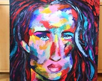 Original oil paintings, portrait, woman, modern art