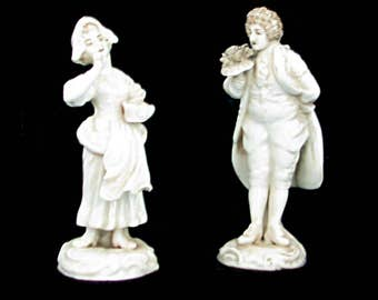 LOVELY couple porcelain of the XIX th century