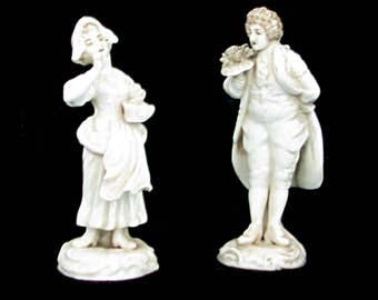 CHARMING pair of 19th century porcelain