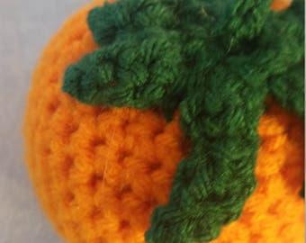 Crochet Orange Tomato