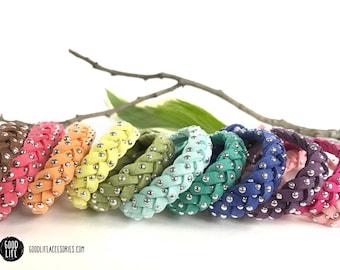 Braided STUDDED Essential Oil Diffuser Bracelet